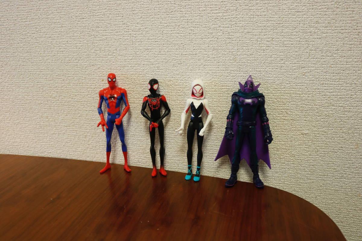 スパイダーマン スパイダーバース ベーシックフィギュア 4種