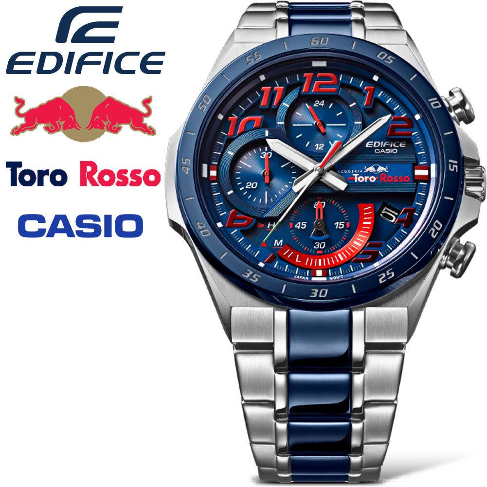 032fa7e1f7 カシオEDIFICE【トロロッソHONDA】F1公式Wネーム限定時計レッドブルレーシング【ソーラー