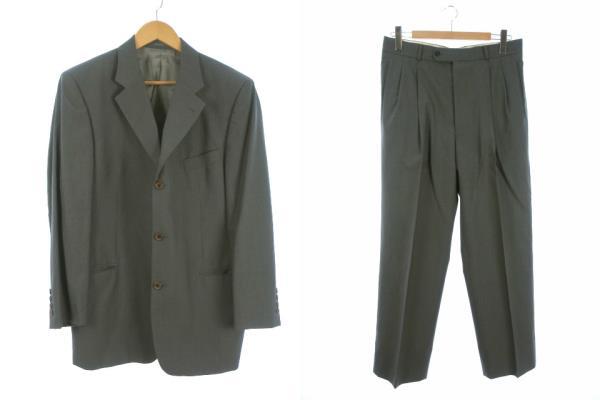 cd6521a77fb9 ファリアーニ FARIANI スーツ セットアップ 上下 AB6 テーラード ジャケット スラックス パンツ ウール グレー 灰 トップス ボトムスの