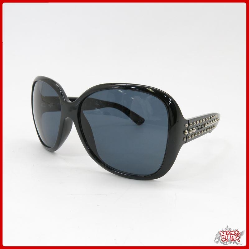 06c0f5ef32a2 買蔵/1円~/美品 プラダ サングラス ブラック プラスチック SPR04M レディース スタッズ