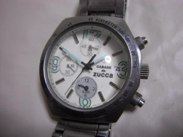 fadb7297f1 中古】CABANE de ZUCCA ズッカ クロノグラフ メンズ腕時計 7T62-0JY0 の ...