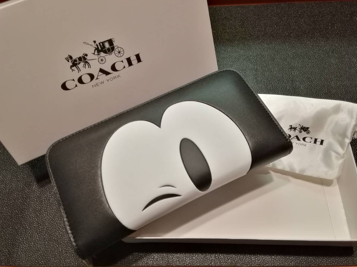 competitive price 7fa32 41f56 新品】COACH F54000 ☆ディズニーコラボ☆ミッキーWink☆新品未 ...