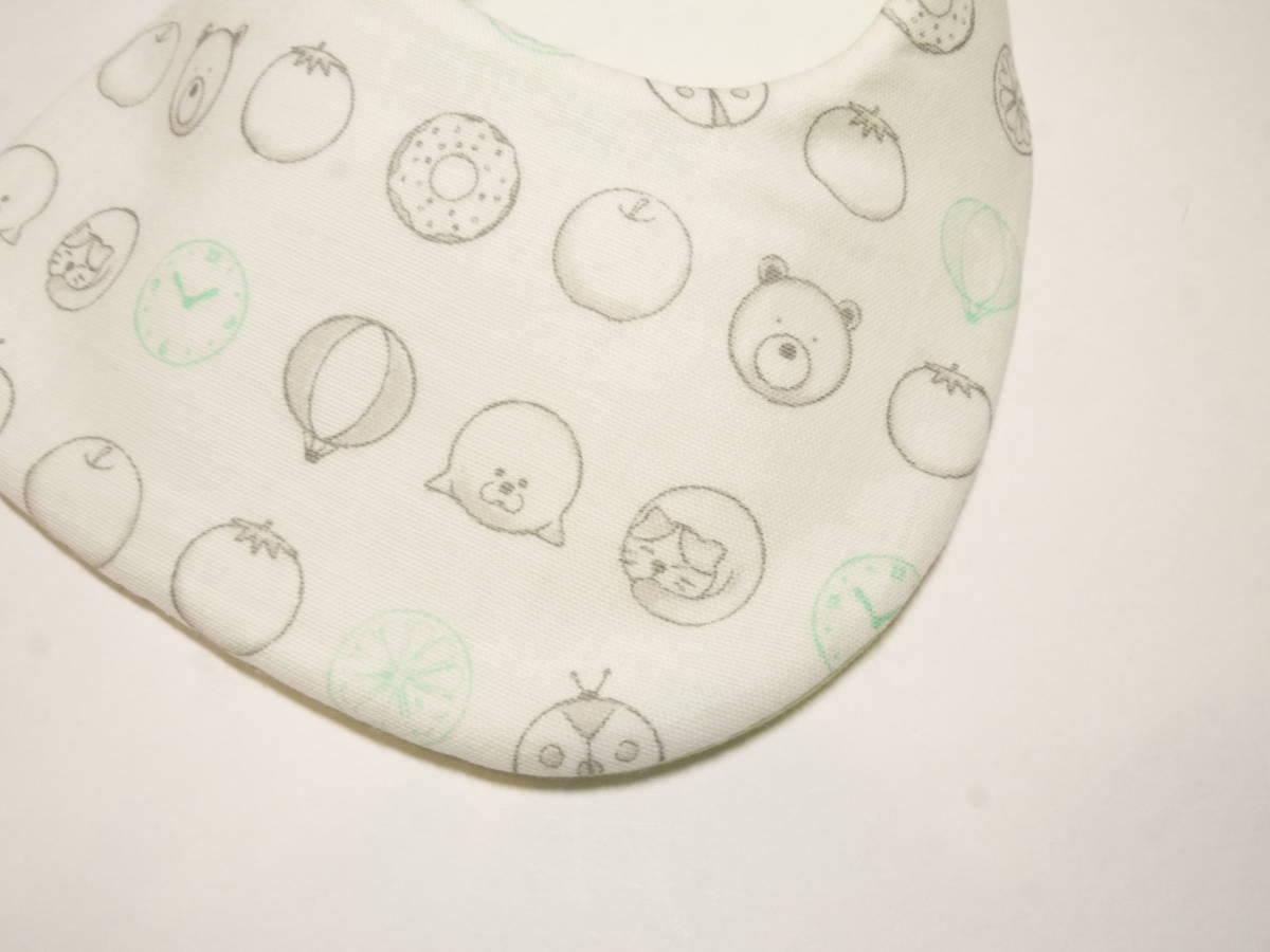 新品handmade4重ガーゼキルトのふわふわスタイイラスト