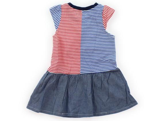 4a94360fe2cc4 ... 丸高衣料 Marutaka ワンピース 90 女の子 青・赤・白 子供服 ベビー服 キッズ