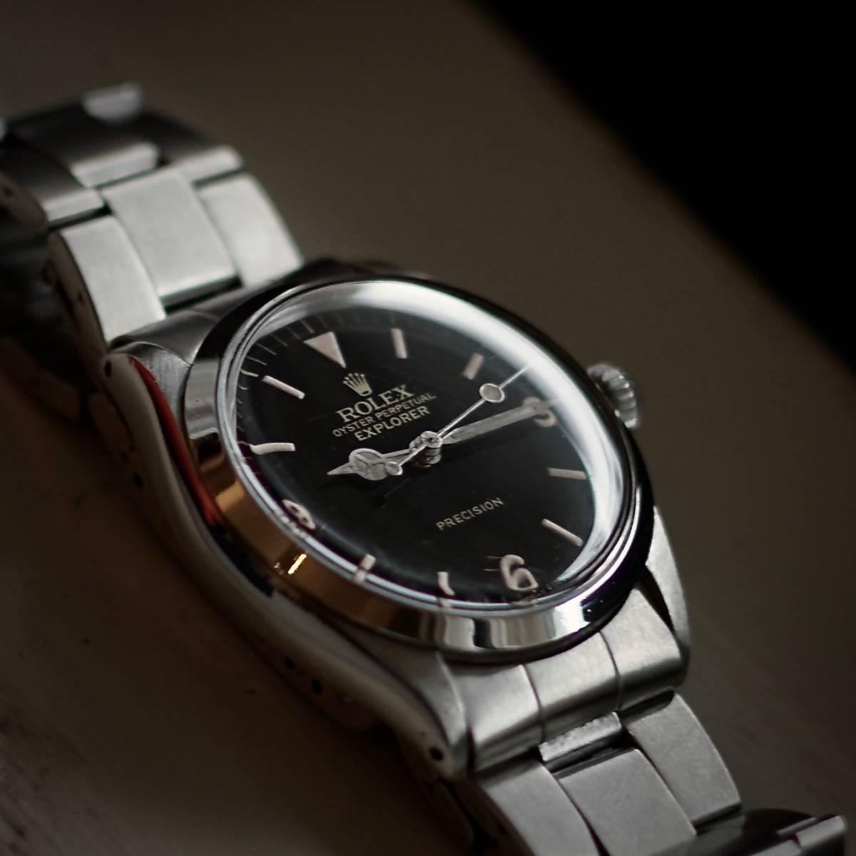 new product 473d5 b1f5d 超美品 OH済 Rolex 5500 Explorer ミラー文字盤 (ロレックス ...