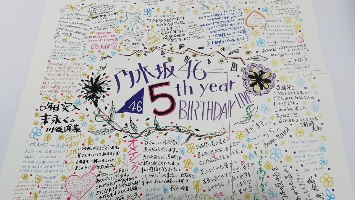 乃木坂46 5th Year Birthday Live モバイル壁紙キャンペーン ポスト