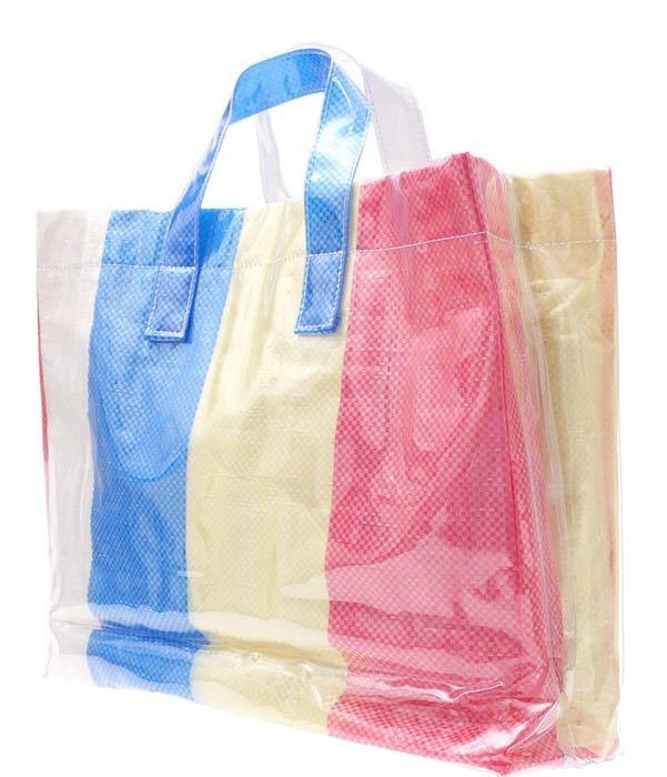 007550ed8f26 ... 国内正規 新品 COMME des GARCONS SHIRT コム デ ギャルソン シャツ PVC LOGO TOTE BAG マルチ ...