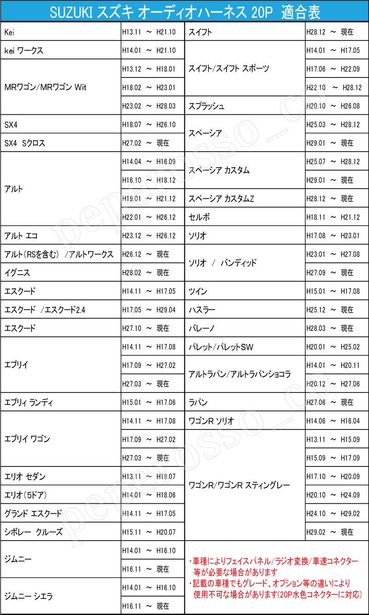 61cc1ed733 ... AH1 1年保証 取説付 スズキ☆ワゴンR / スティングレー オーディオハーネス カーナビ ...