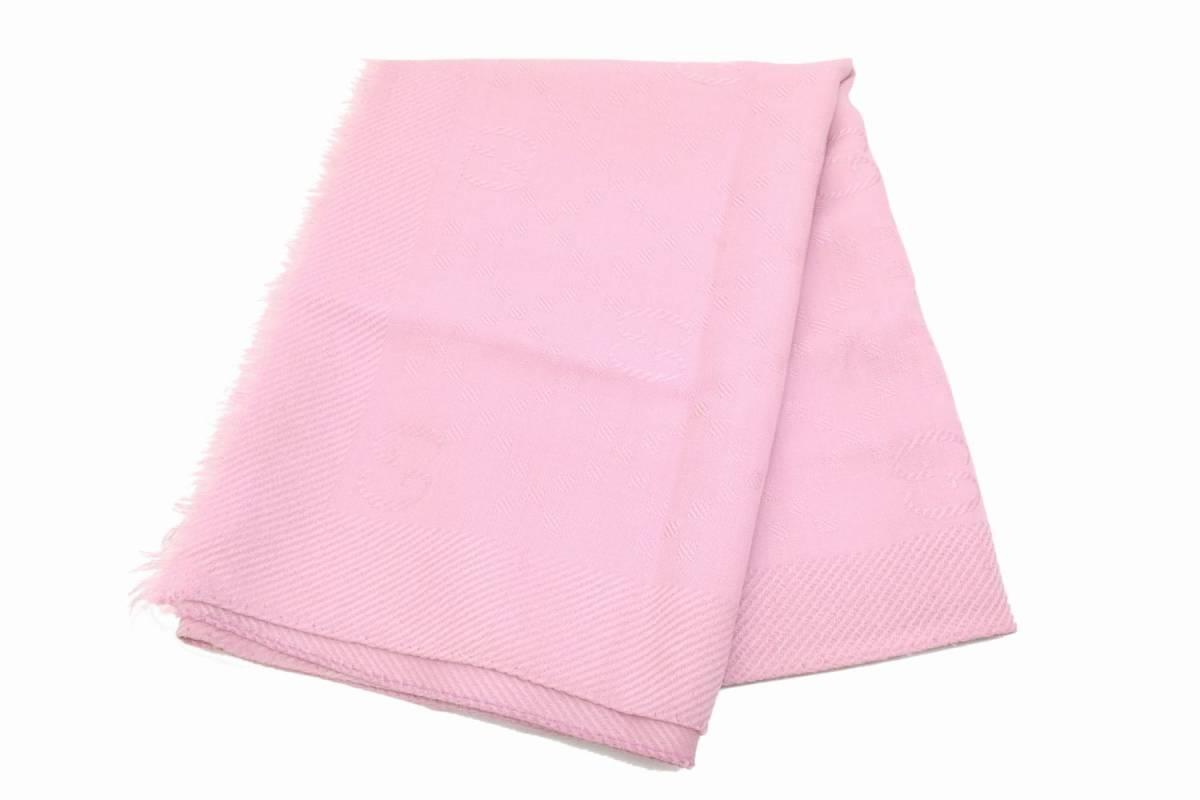 43dd570162c6 本物 GUCCI グッチ GG マフラー ストール ショール ウール シルク 羊毛 絹 ピンク イタリア製 レディース ユニセックス