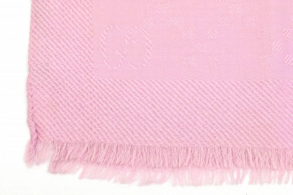 44e548b13a09 ... 本物 GUCCI グッチ GG マフラー ストール ショール ウール シルク 羊毛 絹 ピンク イタリア製 レディース ユニセックス