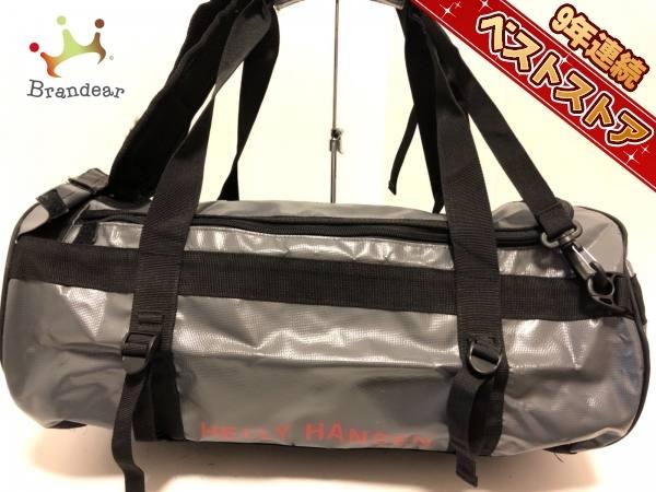 041f1096f79f ヘリーハンセン HELLY HANSEN バッグ リュックサック コーティングキャンバス×ナイロン グレー×黒×レッド