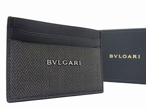 aa7286c038ab 1円 □極美品□ BVLGARI ブルガリ ウィークエンド コーティングキャンバス×レザー カードケース
