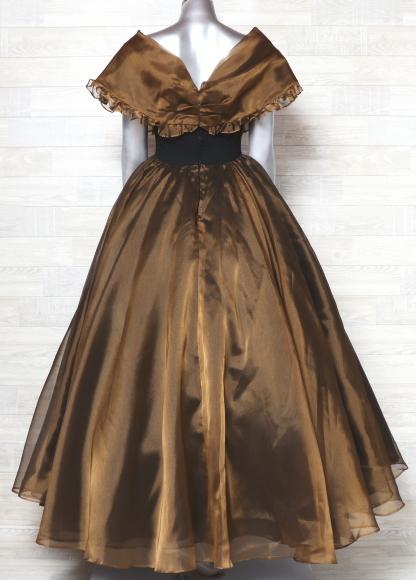 61ad661166307 ... カラードレス オーガンジー ロングドレス 舞台衣装 難あり 中古の3番目 ...