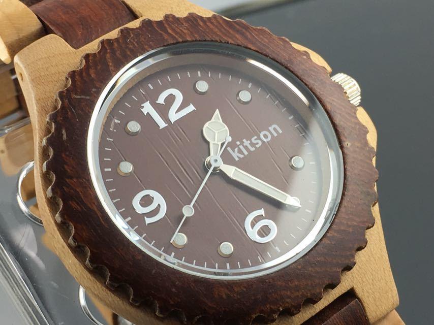 7edf98c04f 1円~☆メンズ腕時計 Kitson キットソン ウッドウォッチ クォーツ 動作品の1番目