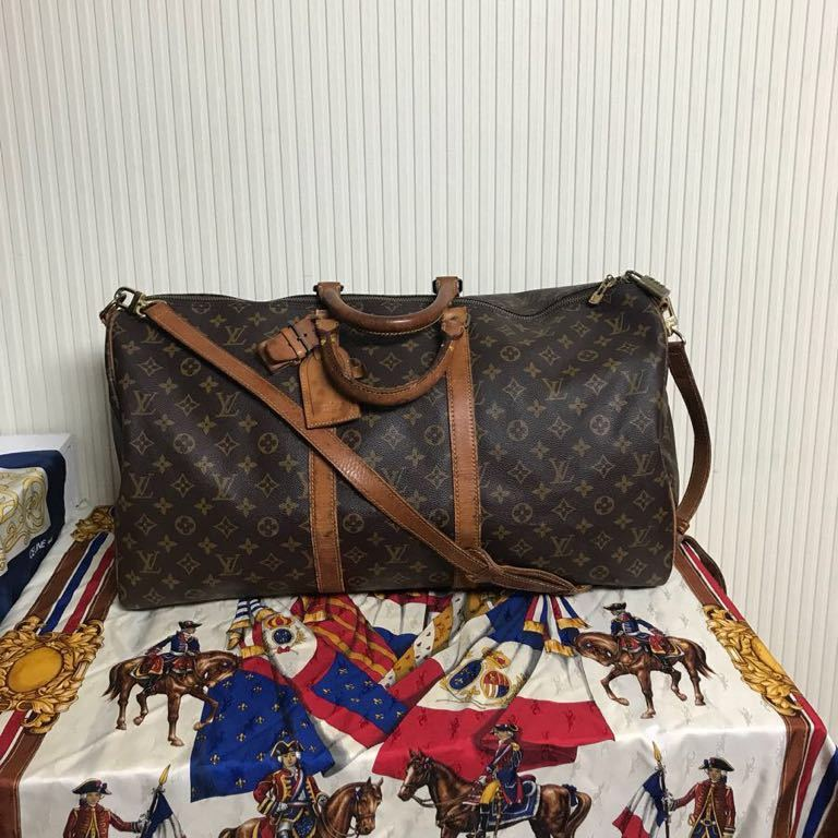e87ea72baa46 VINTAGE OLD Louis Vuitton キーポル55 バンドリエール 2WAYボストンバッグ 旅行鞄 ショルダーバッグ オールド