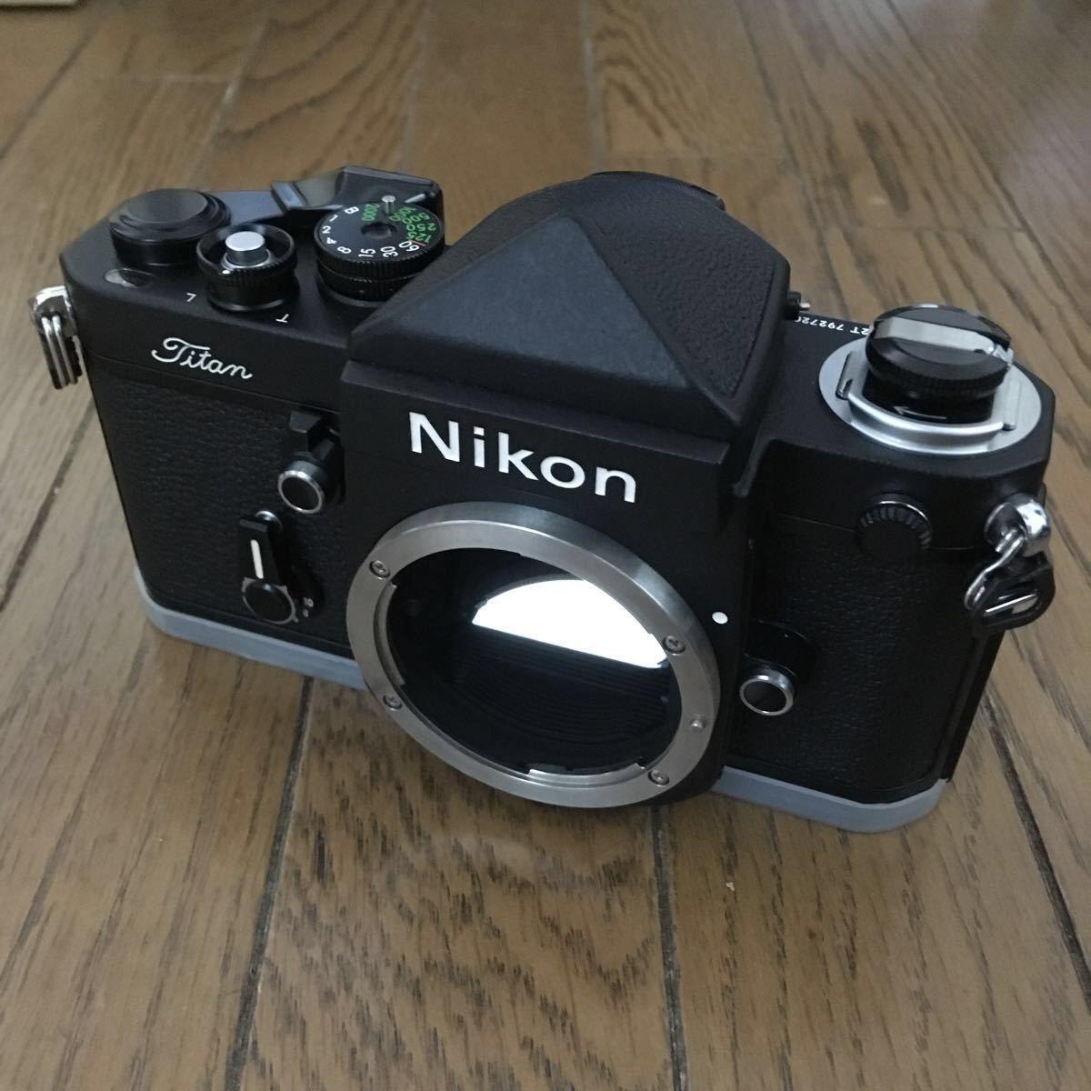 新品】Nikon F2 Titan ネーム ボディ チタン 未使用品 説明書類、クロス