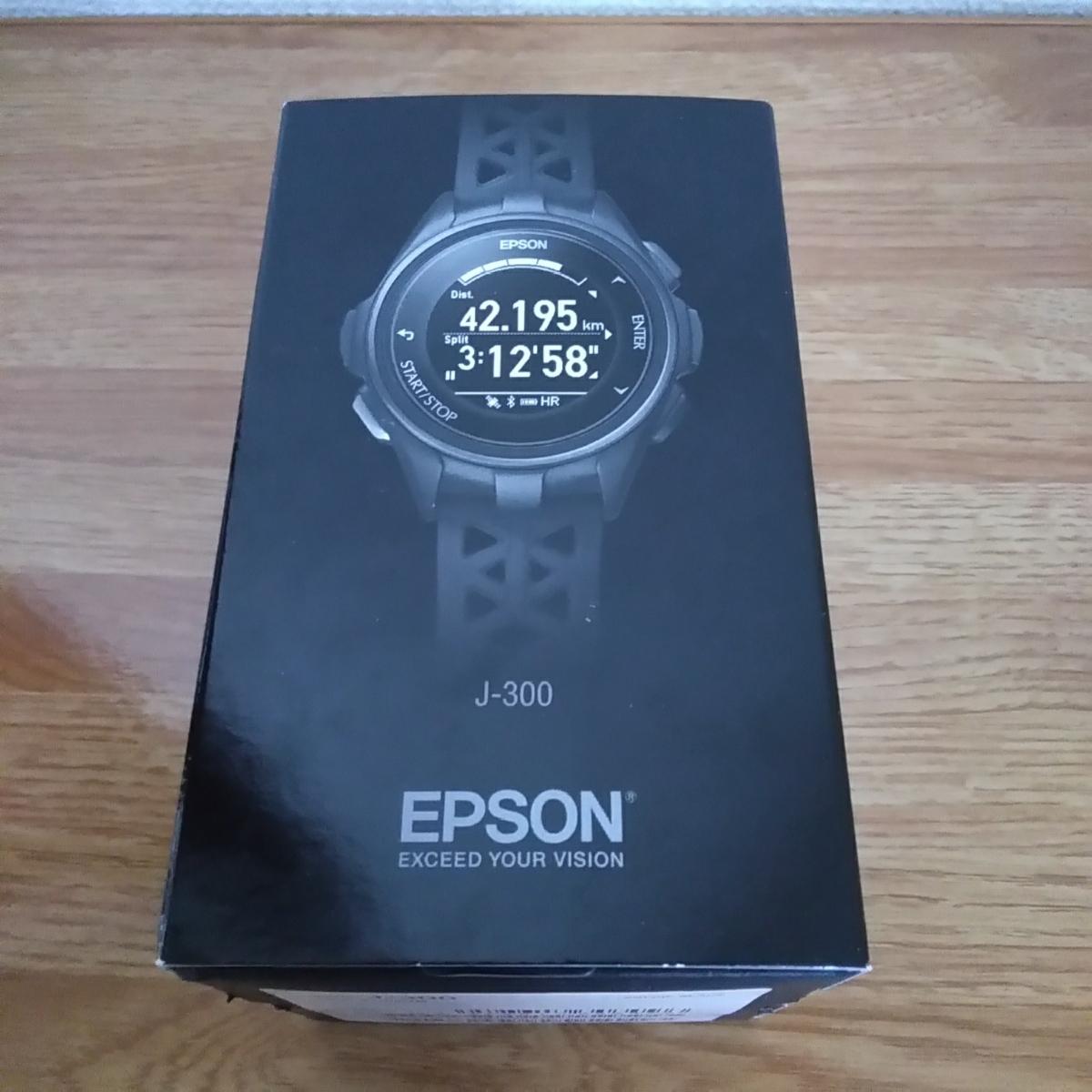 243e1082d0 エプソン リスタブルジーピーエス EPSON Wristable GPS 腕時計 GPS機能 ランニング J-300B 未使用