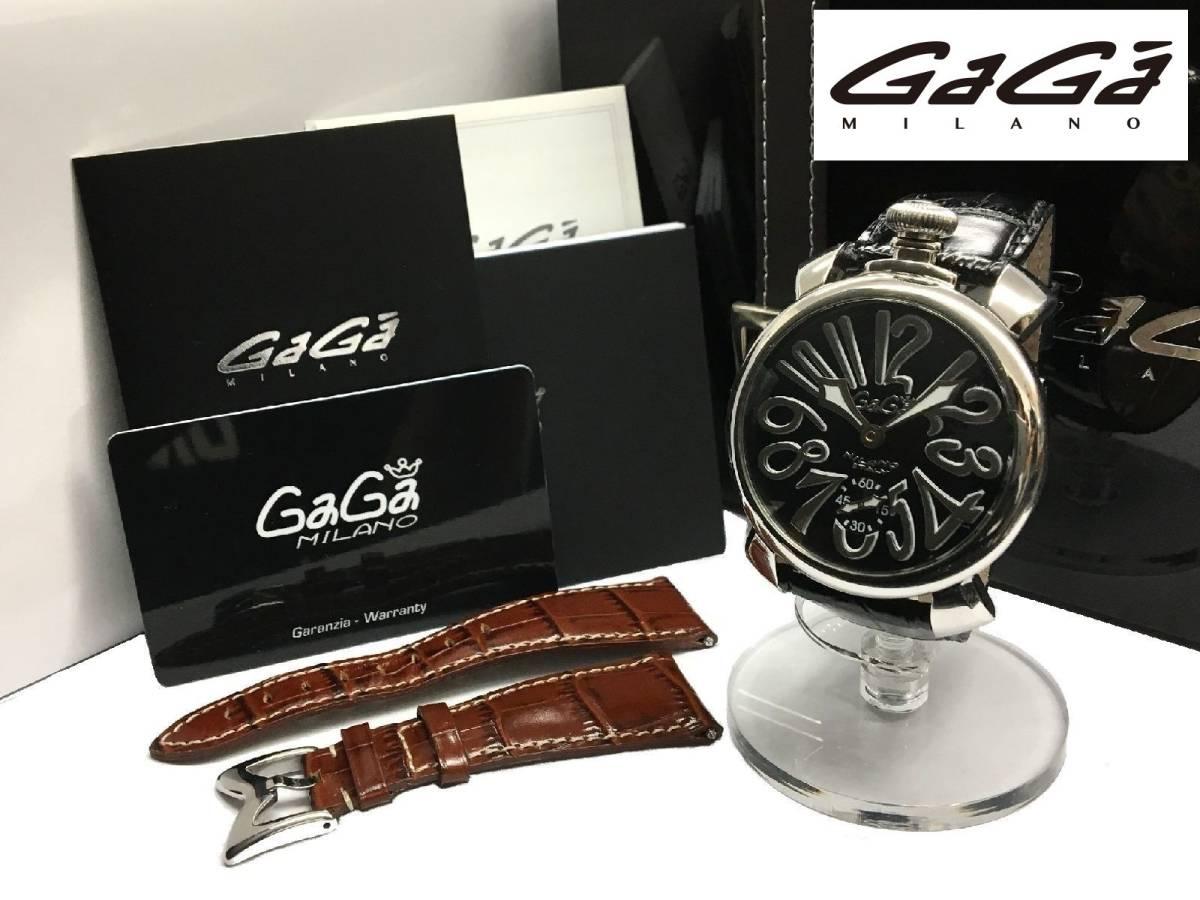 pretty nice 1d4a3 5f42b 美品 正規品 GaGa MILANO ガガミラノ 5010.04S MANUALE ...