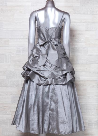 4507d3e79aeb7 ... キャミドレス 大きいサイズ カラードレス 光沢 パーティードレス ロングドレス ウエディングドレスの3番目