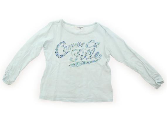 9091fa927612e コムサデモード COMME CA DU MODE Tシャツ・カットソー 110 女の子 水色・花で英字