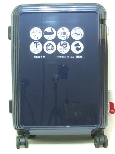 c389686bd5 リップルF スーツケース エース製 49リットル☆箱入り新品 特価!05552 紺の