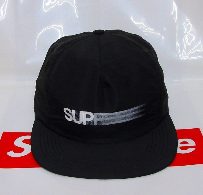 9e898972ccb 16SS Supreme Motion Logo Iridescent 5-Panel Cap キャップ BLACKの1番目の画像