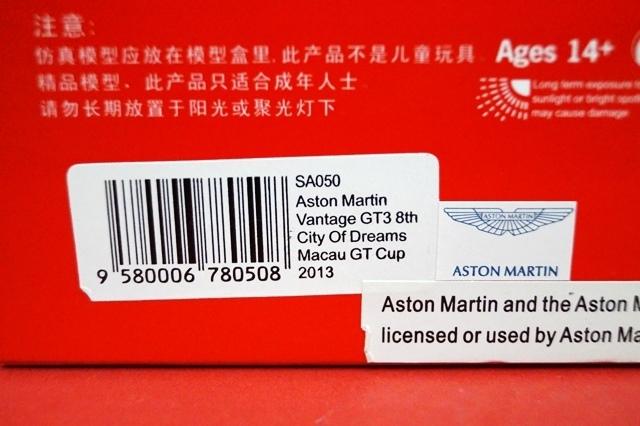 ASTON MARTIN Vantage Gt3 #97 City Of Dreams Macau Gt Cup 2013 SPARK 1:43 SA050