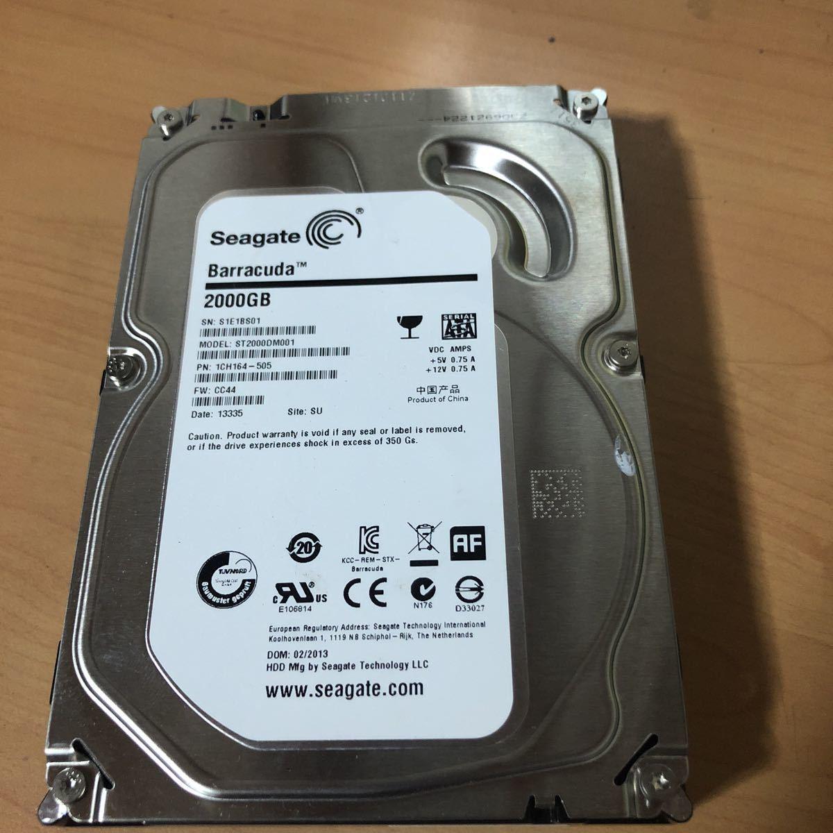 """ST2000DM001 Seagate Barracuda 2000GB 1CH164 2TB 3.5/"""" 7200RPM HDD"""