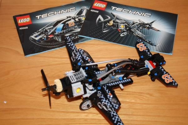 中古】レゴ テクニック 黒いホバークラフト&飛行機 42002 の