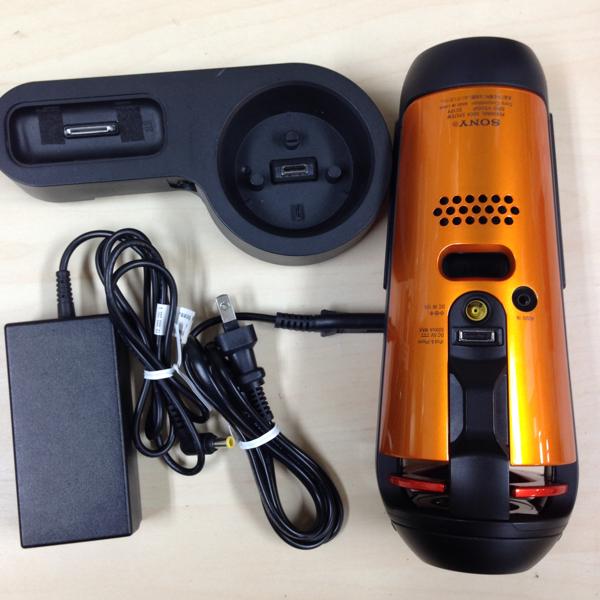 8428fdf884 中古】SONY ソニー iPod/iPhone用ドックスピーカー SRS-V500IP オレンジ ...