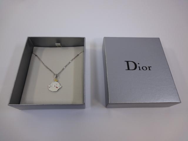 timeless design bebbf 19c49 中古】【ディオール】本物 Dior ネックレス シルバー 925 トップ ...