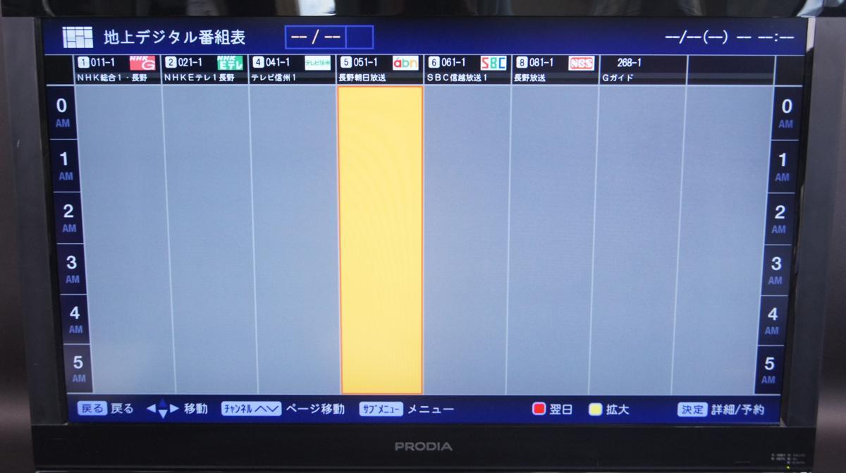 番組 長野 テレビ 表