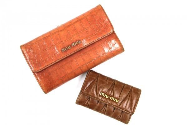 aa61c842c630 中古】A4069 ミュウミュウ MIUMIU 財布とキーケースのセット 二つ折り ...