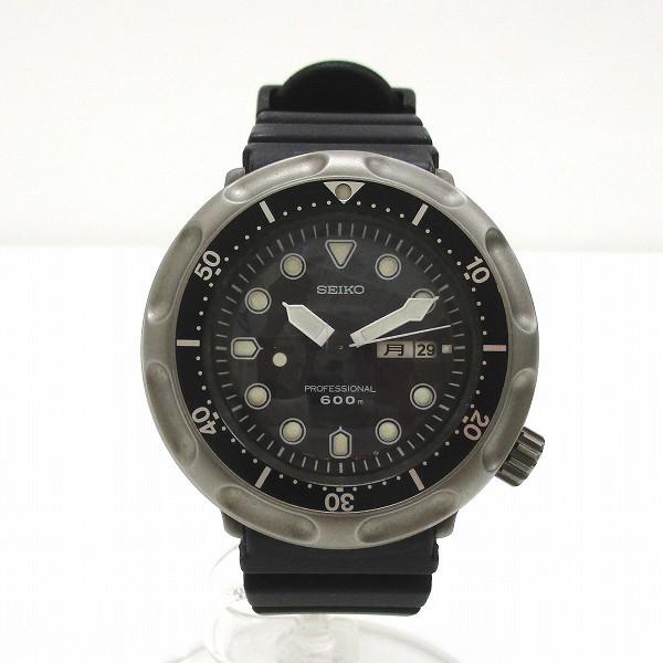 456d6abc15 セイコー プロフェッショナルダイバー 600m 7C46-6010 クォーツ 時計 腕時計 メンズ☆0320の1番目