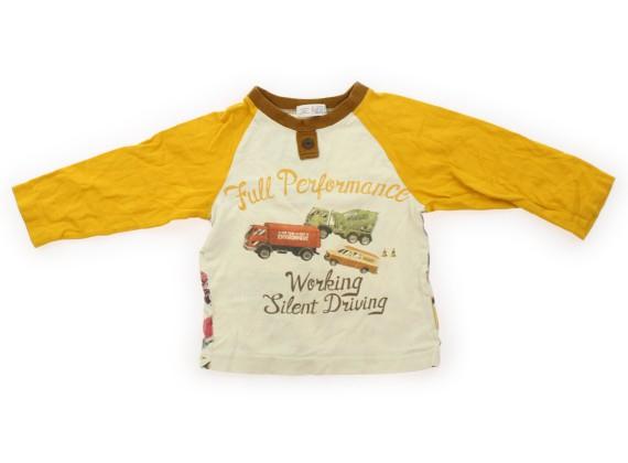 327ef568a52f7 丸高衣料 Marutaka Tシャツ・カットソー 100 男の子 黄色・ベージュ・くるま 子供