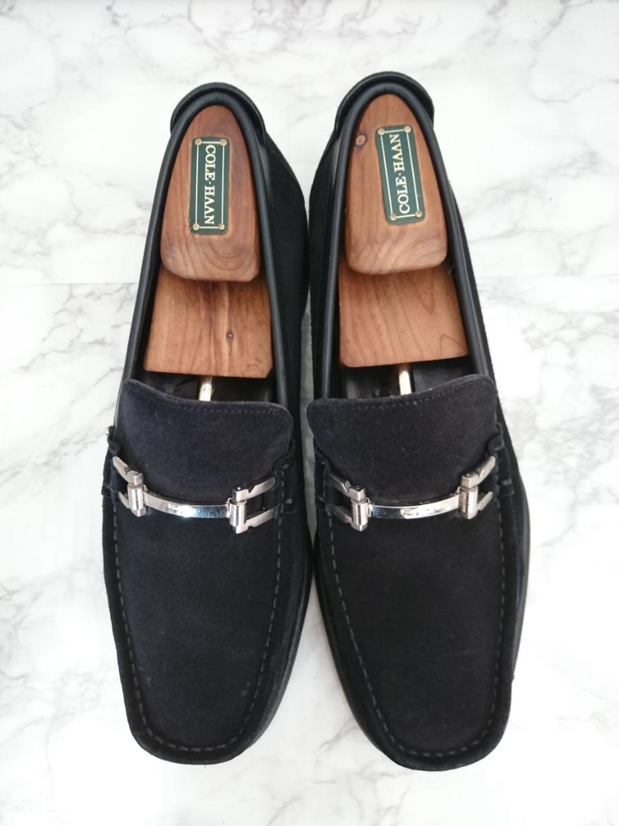 857ca54fa3b3 ... 管理909 Ferragamo 10 フェラガモ シューズ スエード カジュアル ブラック メンズ 革靴 レザー 黒 イタリア製 ビット ローファー ...