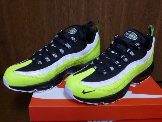 quality design 2e882 cadf0 Nike Air Max 95 PRM Volt Black Mens Running Shoes NSW Sneakers 538416-701  Men