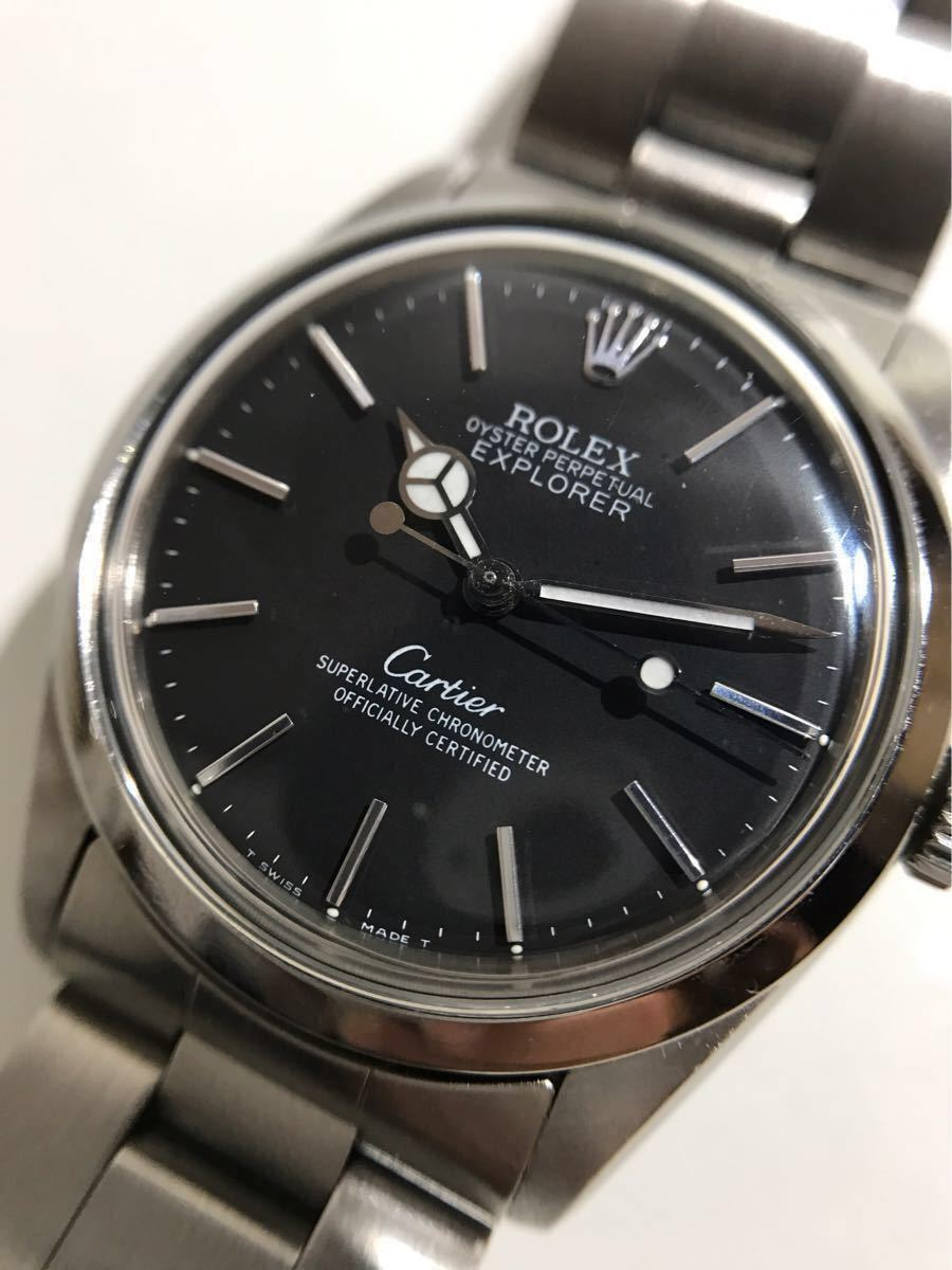 huge selection of caf51 f5d51 中古】ROLEX エクスプローラー 【カルティエ Wネーム】Cartier ...