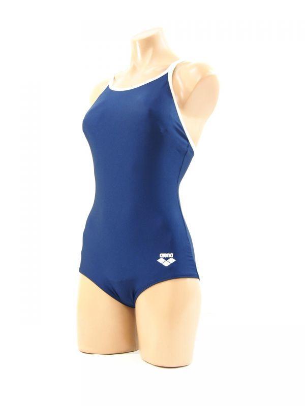 87950a4863c r2_3108S arena アリーナ ARN-75W 大きいサイズ XO 競泳水着 紺 白パイ ハイレグ水着