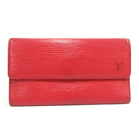 ef1af4bb6fdd ルイヴィトン 財布 長財布 三つ折り エピ ポルト トレゾール インターナショナル 赤 レッド M63387 /TC31