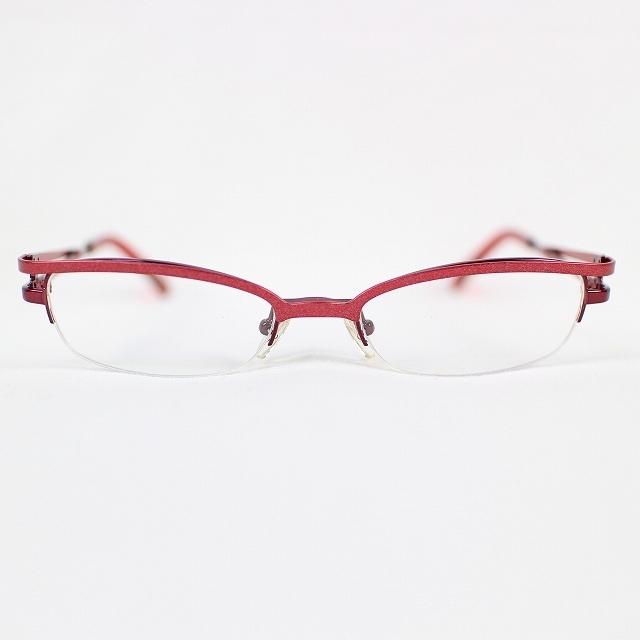 396cf30cfd06 メガネフレーム めがね 赤 レッド MA-3203U 50□18 増永眼鏡 ハーフリム チタン M1220