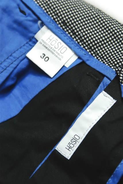 c42d222efb1a ... HoSIO オジオ イタリア製 ストレッチシャーリングカーゴパンツ 30 ブラック 立体裁断 裾リブ ボトム   mc49059