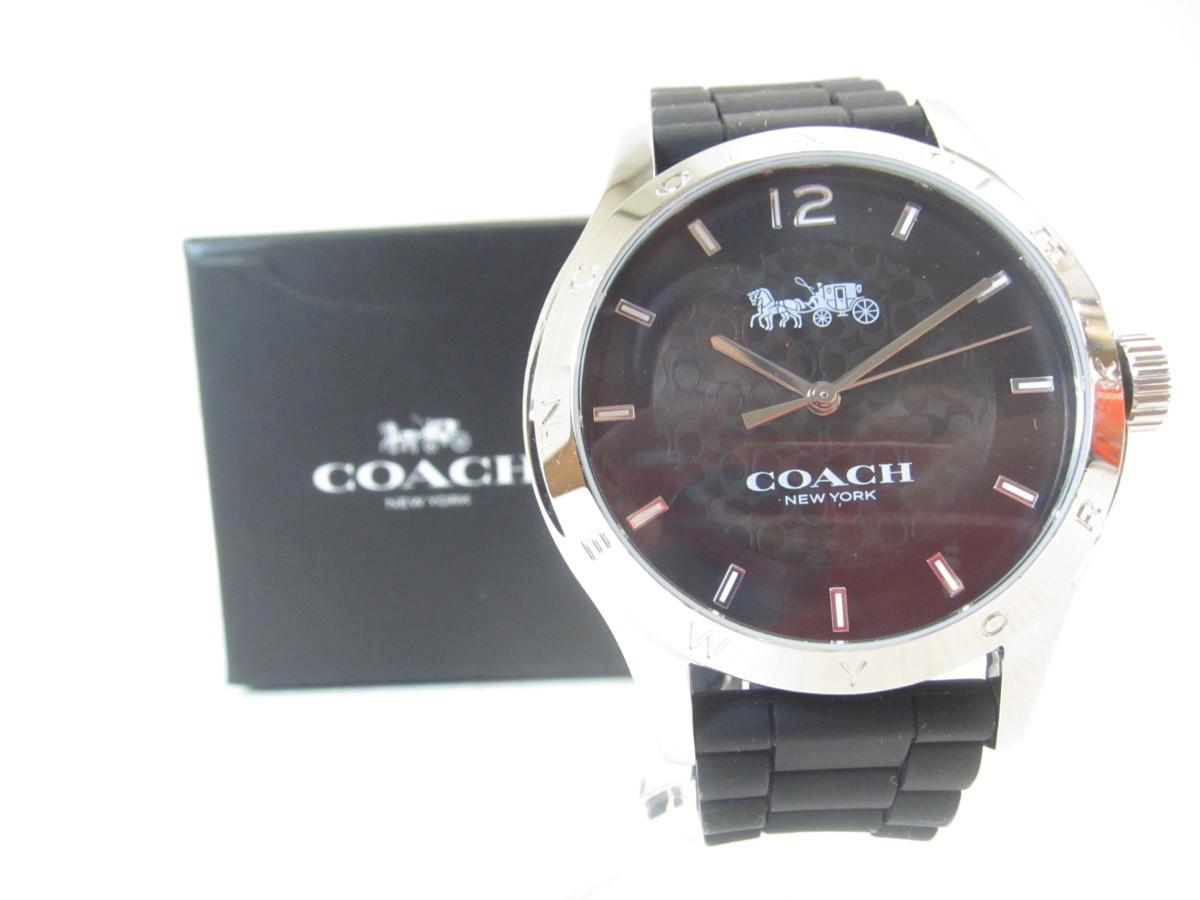 80112f0b84a6 COACH 14502217 BLK MADDY マディ ラバー 腕時計 ◎UP1604の1番目の画像
