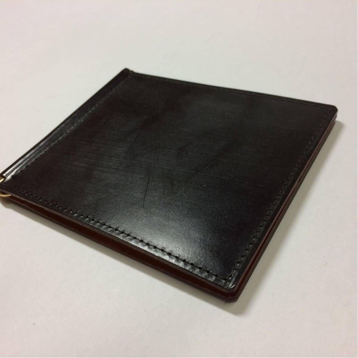 2f294590a0ac 美品 GANZO ガンゾ シンブライドル マネークリップ 財布 ブライドルレザーの1番目の画像
