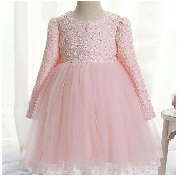 ca835f16a860c 極美品 一度のみ クリーニング済 子供ドレス 長袖 女の子 キッズ ワンピース フォーマル 発表会