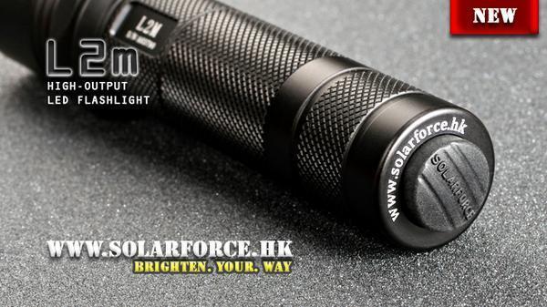 18650 , CR123A New SolarForce L2M Cree XP-L V6 830 Lumens LED Flashlight