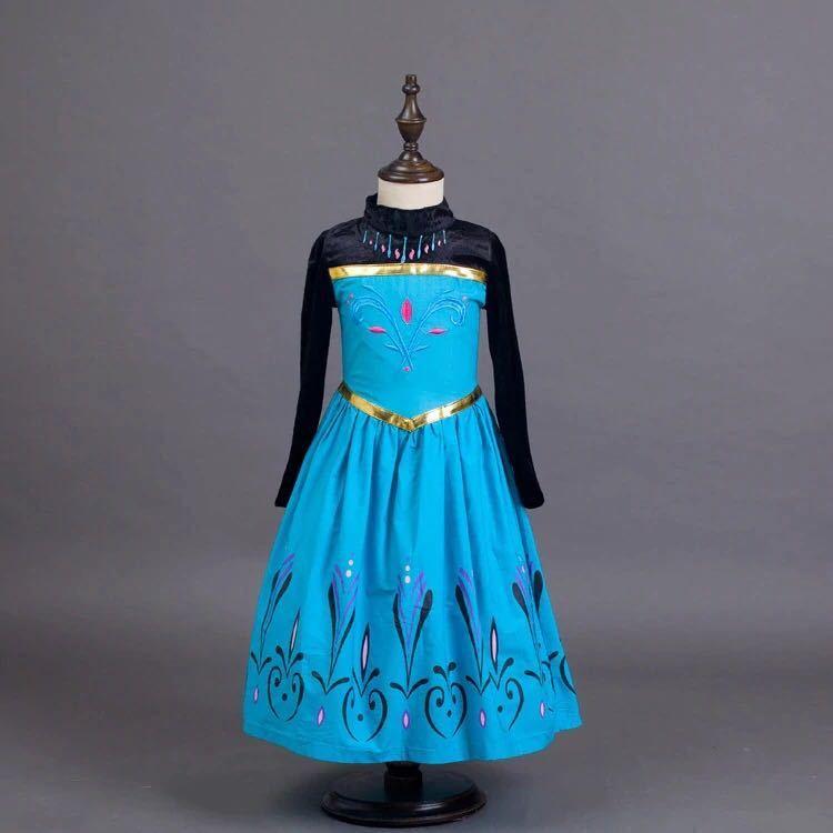 新品】【100サイズ】キッズ 子供用 エルサ 戴冠式 ドレス
