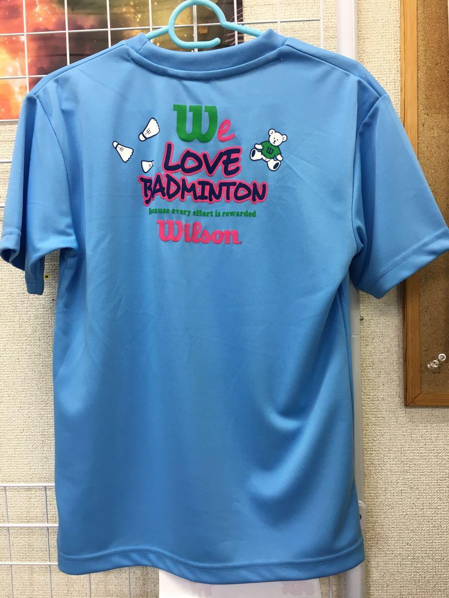 d7e7badc3a752 ... 【限定】Wilson(ウィルソン) LOVE BADMINTON Tシャツ ブルー サイズL 新品タグ ...