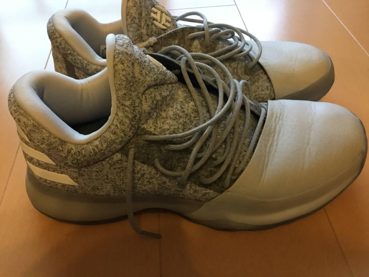 2eed24b24d7 中古 EastBay購入 日本未発売カラー adidas harden vol.1 Grey バスケット US9.