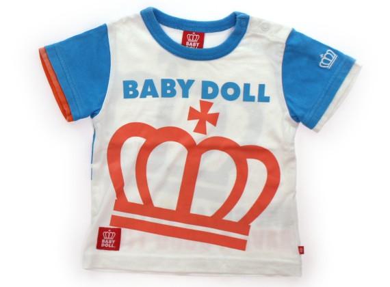 b225ee79c15b1 ベビードール BABYDOLL Tシャツ・カットソー 80 男の子 白、水色、オレンジクラウン 子供